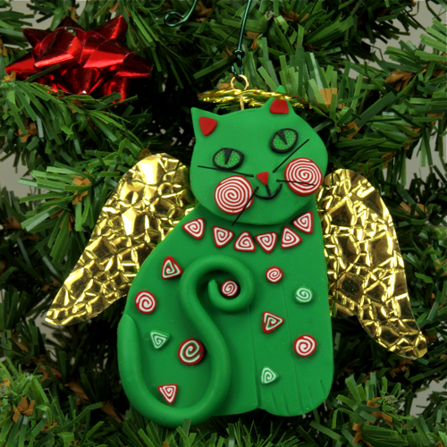 Melody O'Beau Designs: Cat Angel Christmas Tree Ornaments from ...
