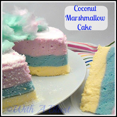 With A Blast: Coconut Marshmallow Cake {no baking or cooking!}  #cake  #candy