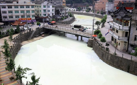 gambar aneh sungai susu di china