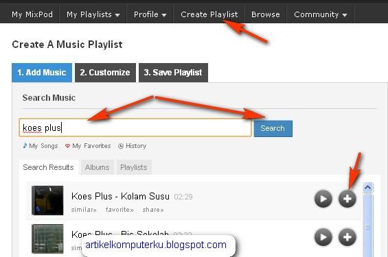 widget musik untuk blog