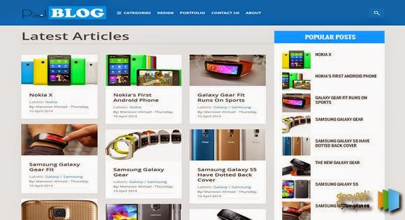 Blogger Responsive Template for Products Gallery