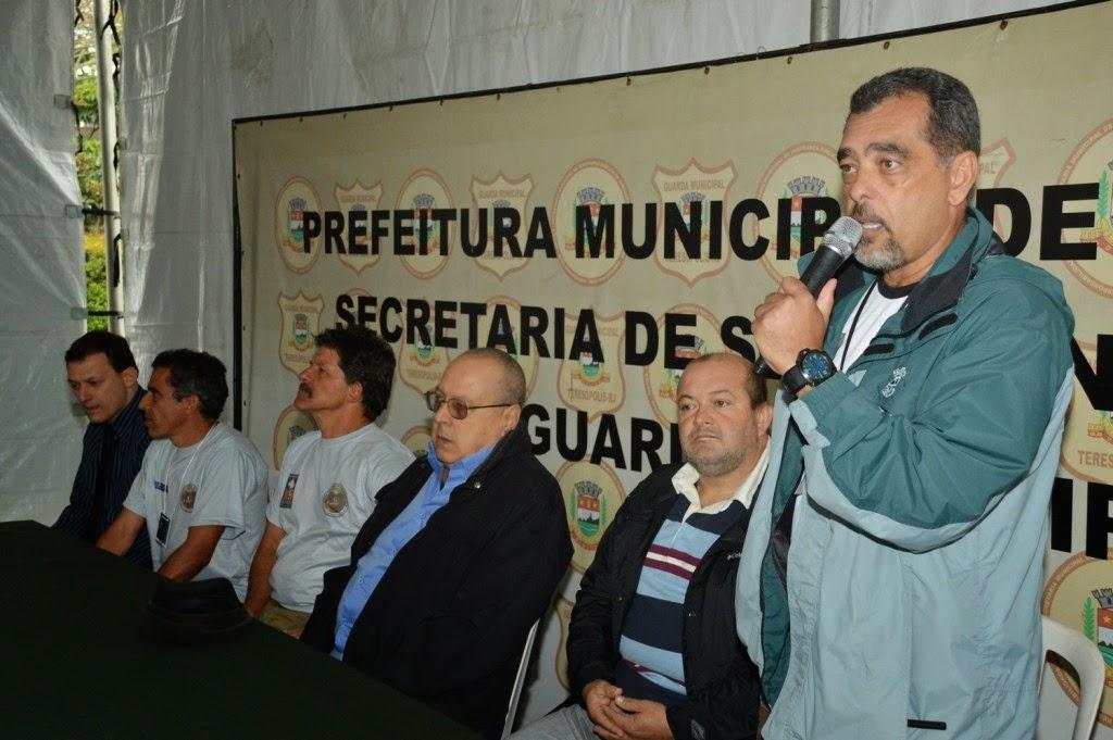 Secretário de Segurança Pública, Marcos Antonio da Luz, frisa empenho da CIA de Operações com Cães da Guarda Municipal