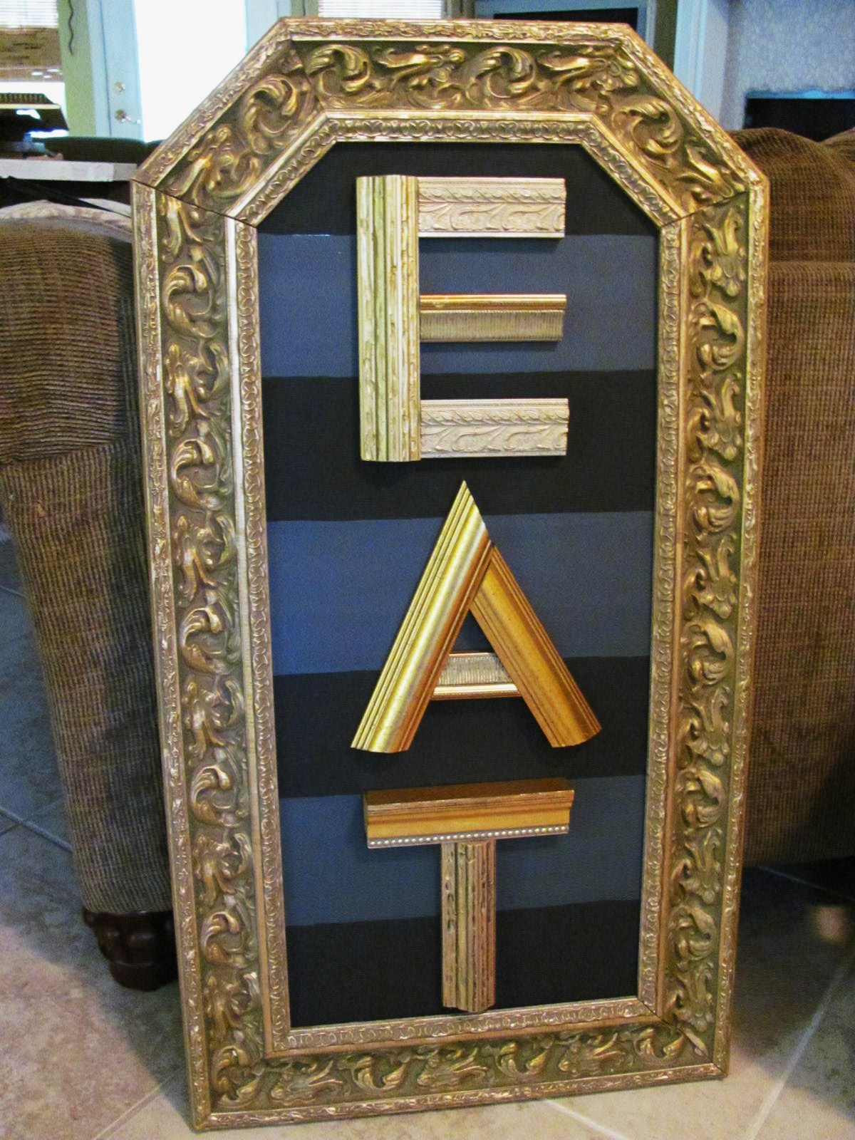 Recycled christmas tree art diy using recycled re purposed wooden decorative alphabet letters from picture frame molding jeuxipadfo Gallery