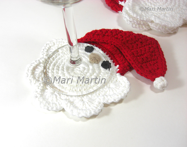 Free Crochet Santa Claus Coaster Pattern : Crochet Coasters Santa Claus ~ Crochet Colorful