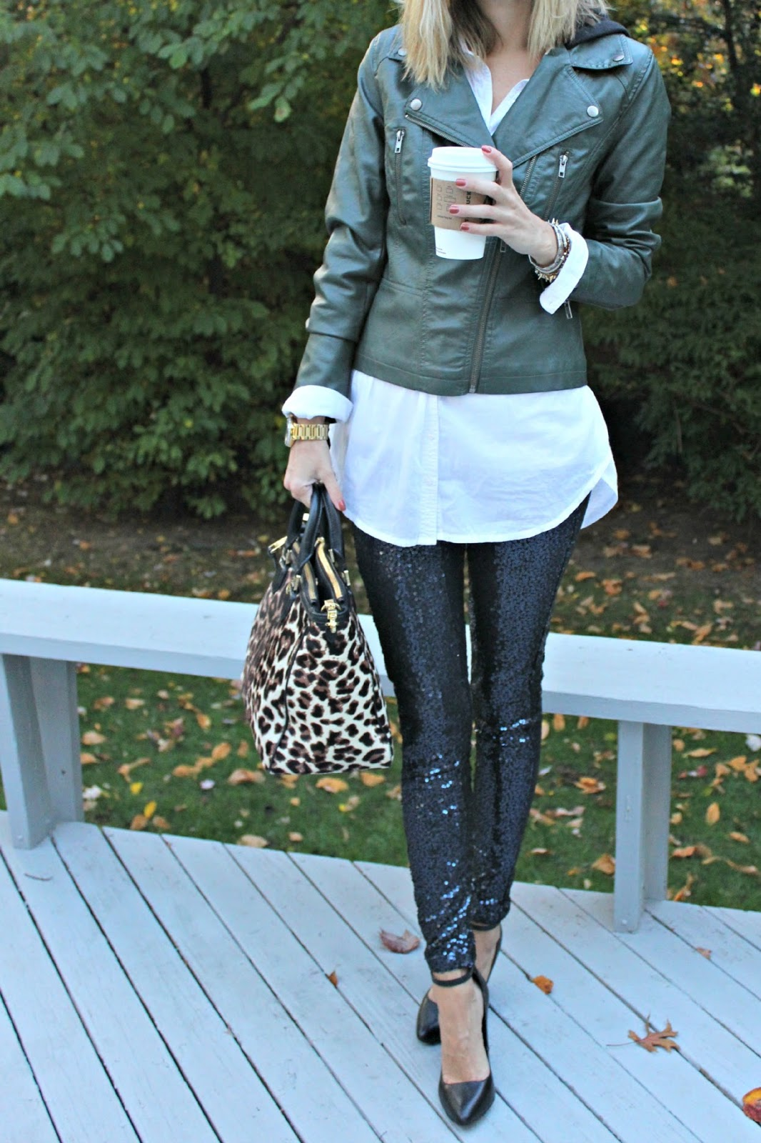 aerie sequin leggings