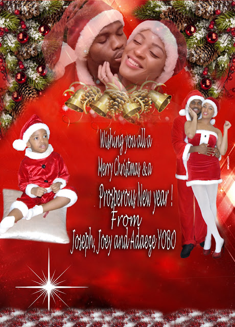 joseph yobo and wife christmas