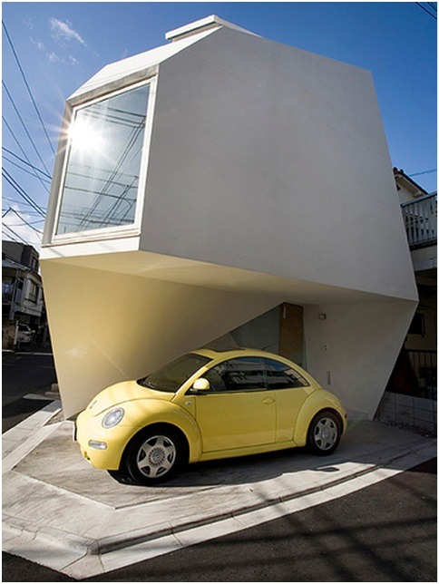 MINIMALIST ORIGAMI HOUSE FACADE NICE AND SMALL