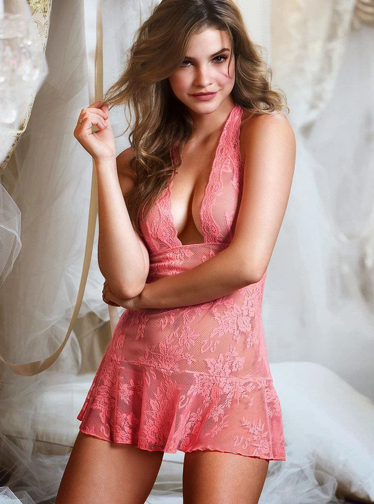 red Barbara lingerie palvin