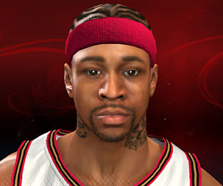 NBA 2K13 Allen Iverson Cyberface Patch
