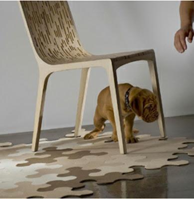 diseño alfombra puzzle