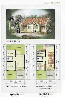 model rumah minimalis dan denahnya