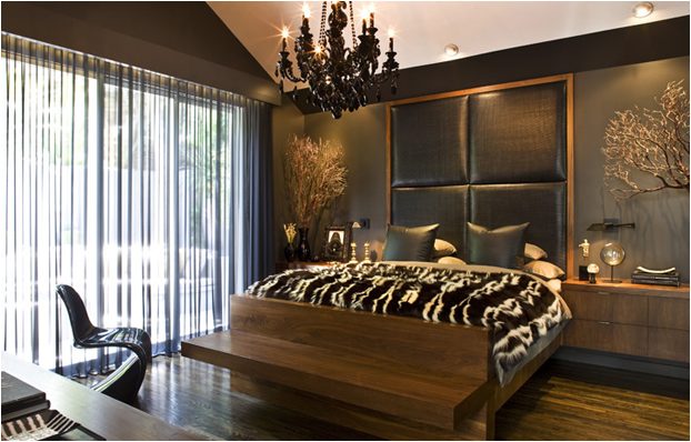 Masculine interior bedrooms home decorating ideas for Masculine home decor