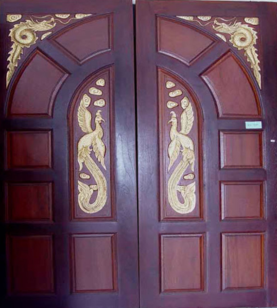 Wood design ideas double front door designs wood kerala for House front double door design