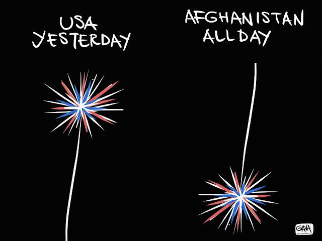 Obama USA Afghanistan bombardamenti Gava Satira Vignette