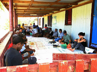 Fijian farmers at meeting