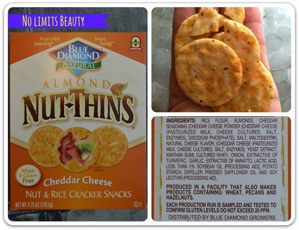 Blue Diamond, Almond Nut-Thins, Nut & Rice Cracker Snacks, Cheddar Cheese
