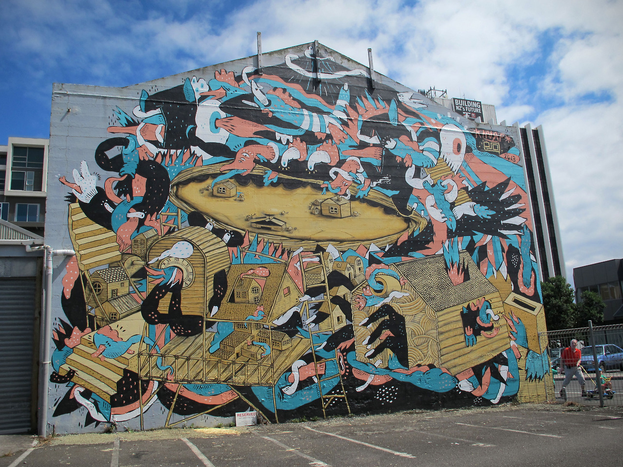 Knarf x eno new murals in new plymouth new zealand for Australian mural