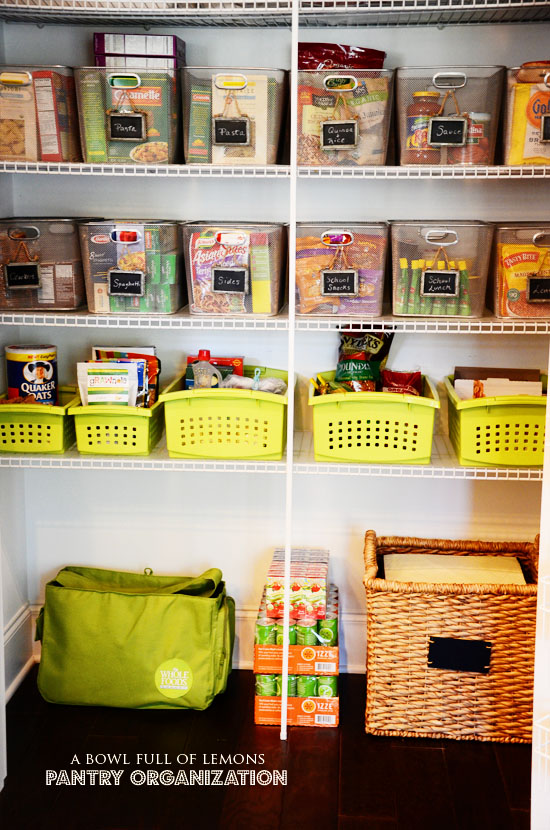 How To Organize The Pantry A Bowl Full Of Lemons