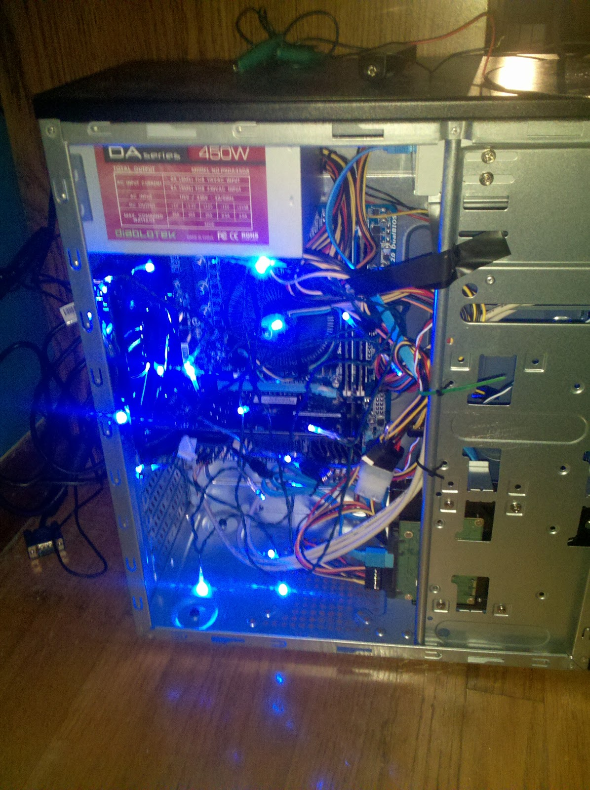 Adventures in IT: DIY PC Tower Case Using LED Christmas Lights & USB ...