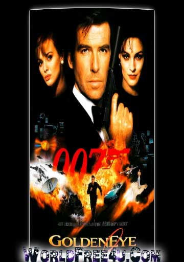 Poster Of Free Download GoldenEye 1995 300MB Full Movie Hindi Dubbed 720P Bluray HD HEVC Small Size Pc Movie Only At stevekamb.com