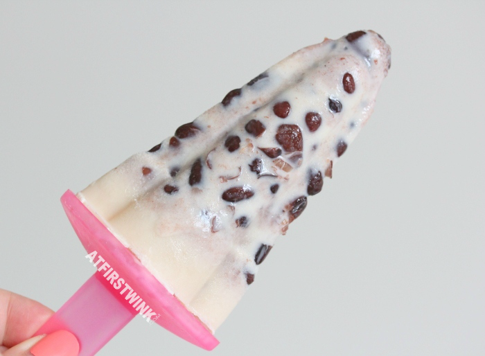 what to make with red bean? a milky red bean popsicle recipe