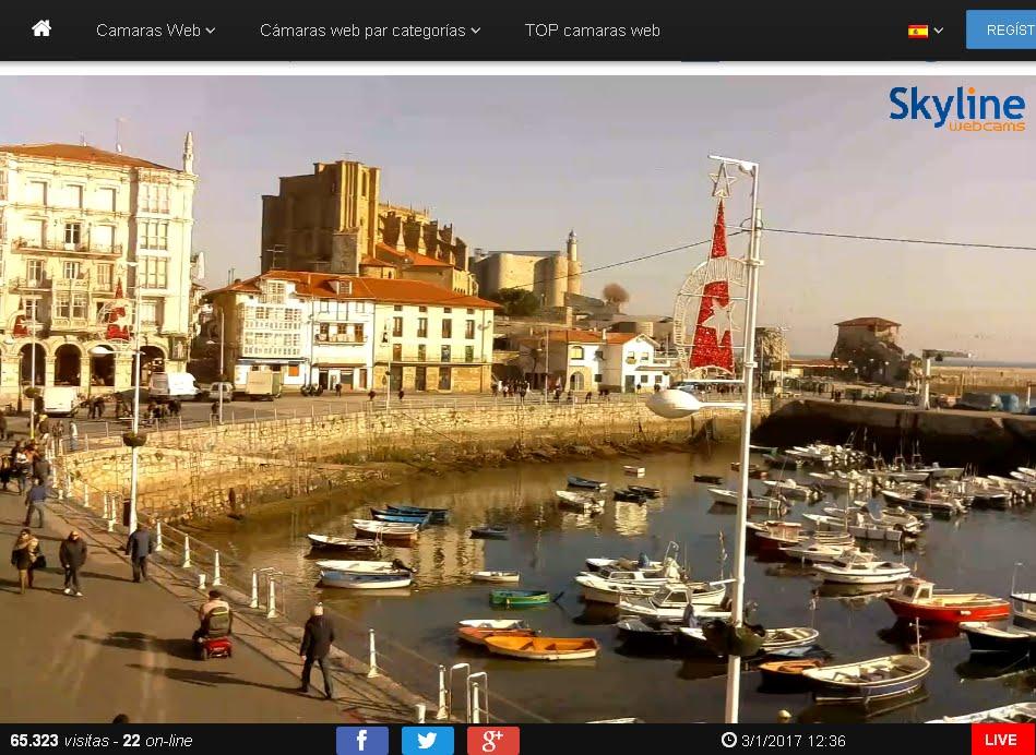 Camara web puerto Castro Urdiales