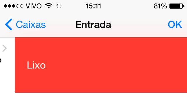 Apagar e-mails