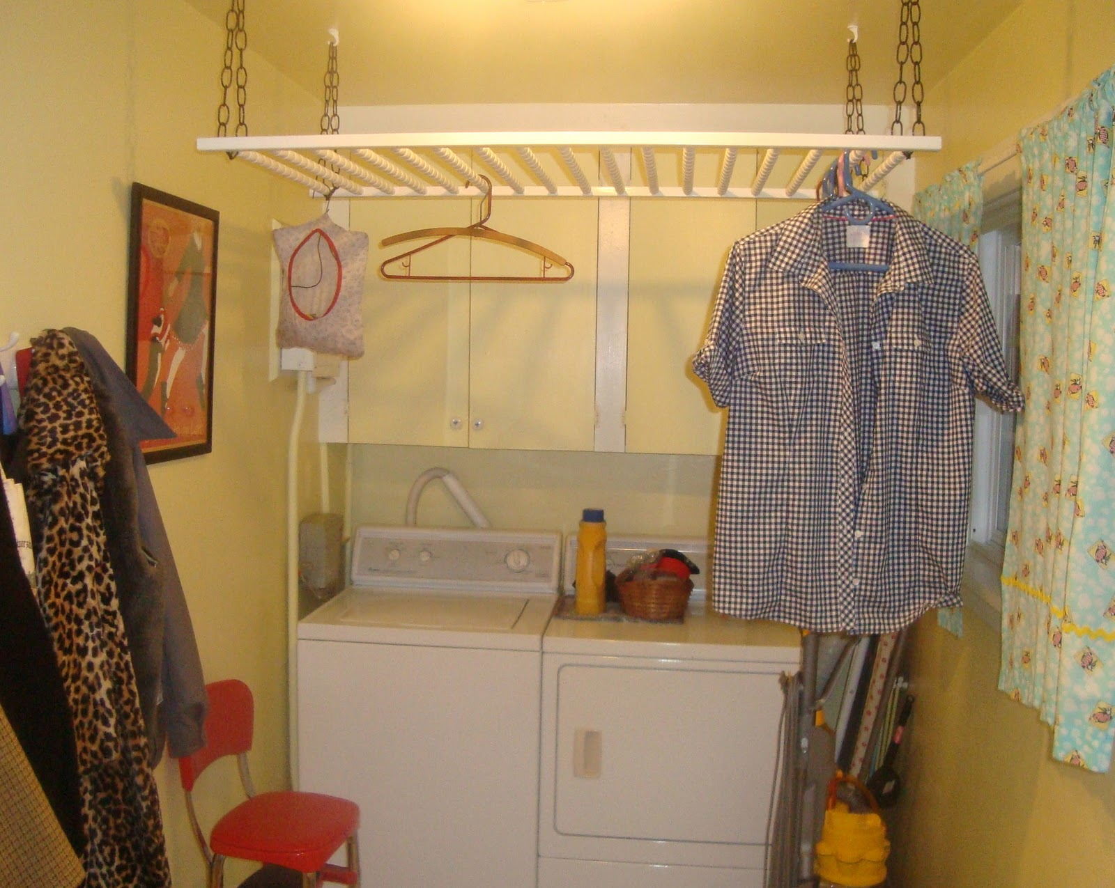Clothes drying racks Repurposed and Basements come