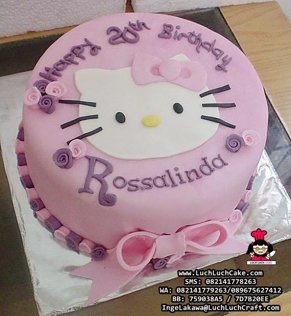 Kue Tart Fondant Hello Kitty 2D Daerah Surabaya - Sidoarjo