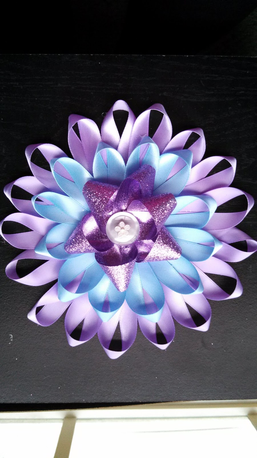 Alli crafts craft tutorial large ribbon flower for Ribbon crafts to make
