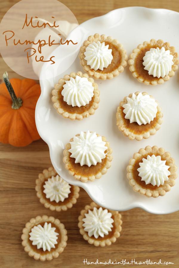 Mini Pumpkin Pies - Handmade in the Heartland