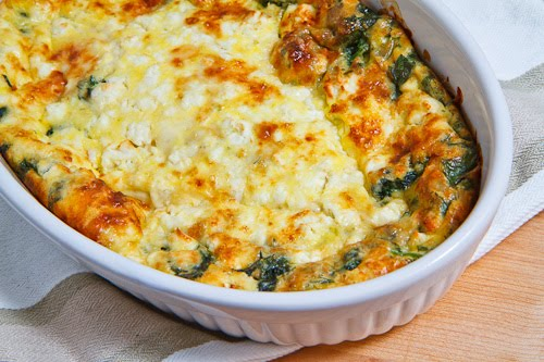 Spinach and Feta Clafoutis