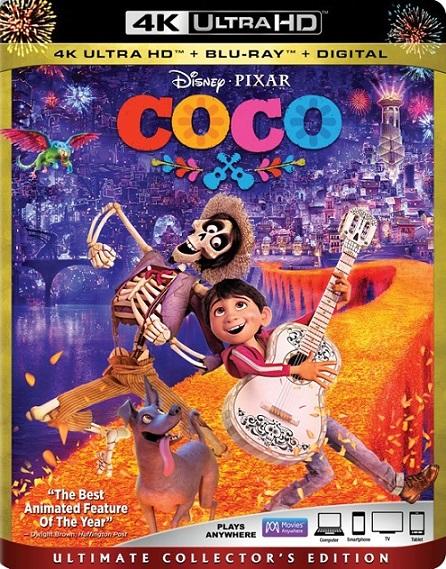Coco 4K (2017) 2160p 4K UltraHD HDR BluRay REMUX 41GB mkv Dual Audio Dolby TrueHD ATMOS 7.1 ch