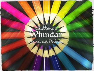 10 maart 2020 challenge februari gewonnen bij Kleuren met potloden