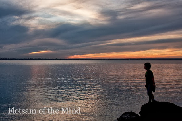 Silhouette at Sunset on Narragansett Bay - Flotsam of the Mind