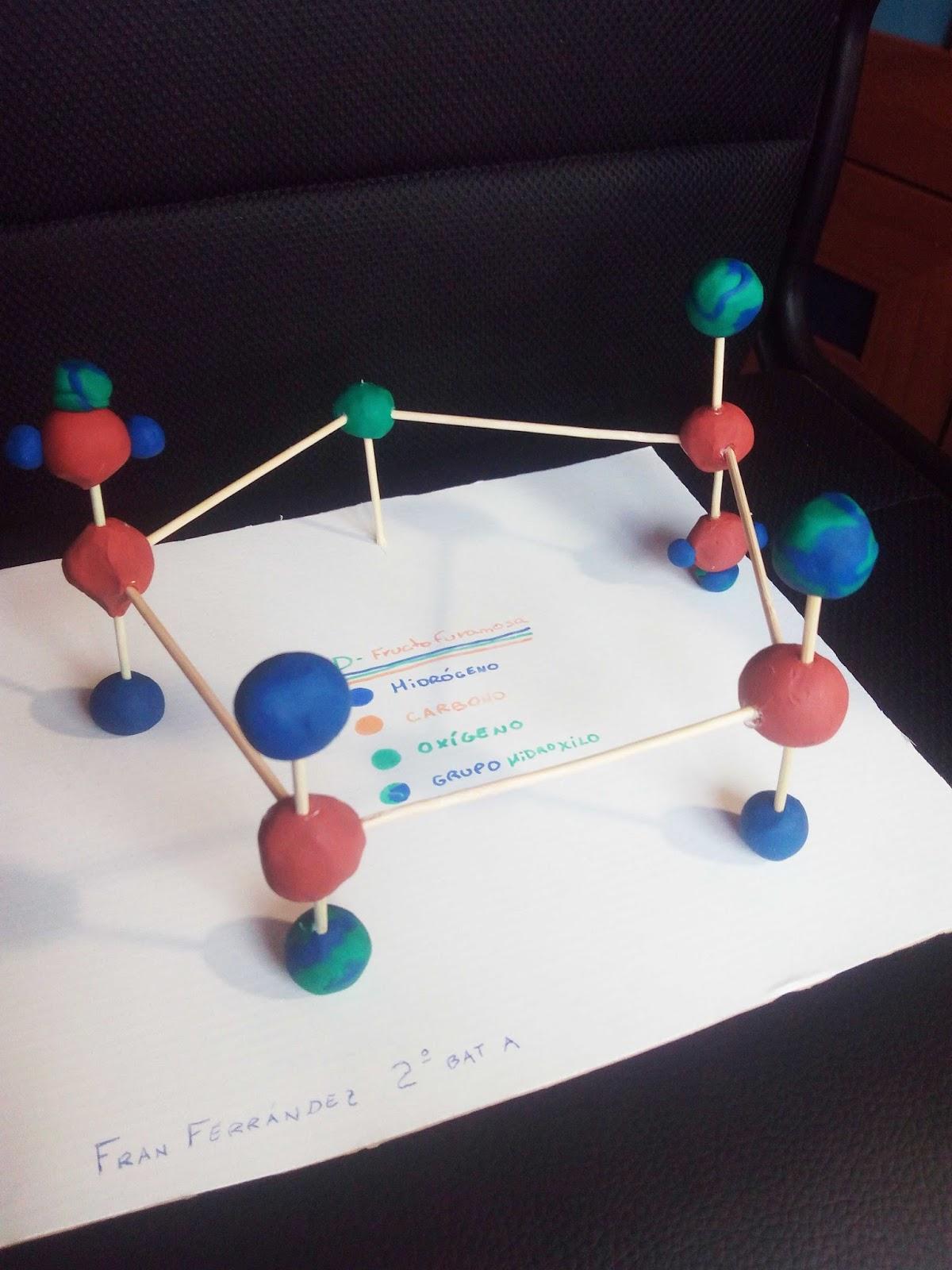 Biolog a maqueta de la fructosa tema 3 for Sillas para una maqueta