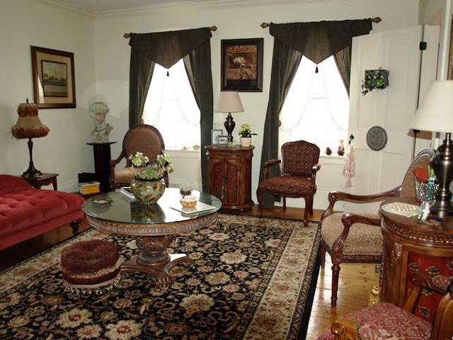 victorian parlor furniture sets classic design ideas for family room with antique table lamp best white vintage wall painting color natural rustic hardwood flooring and motif soft carpets
