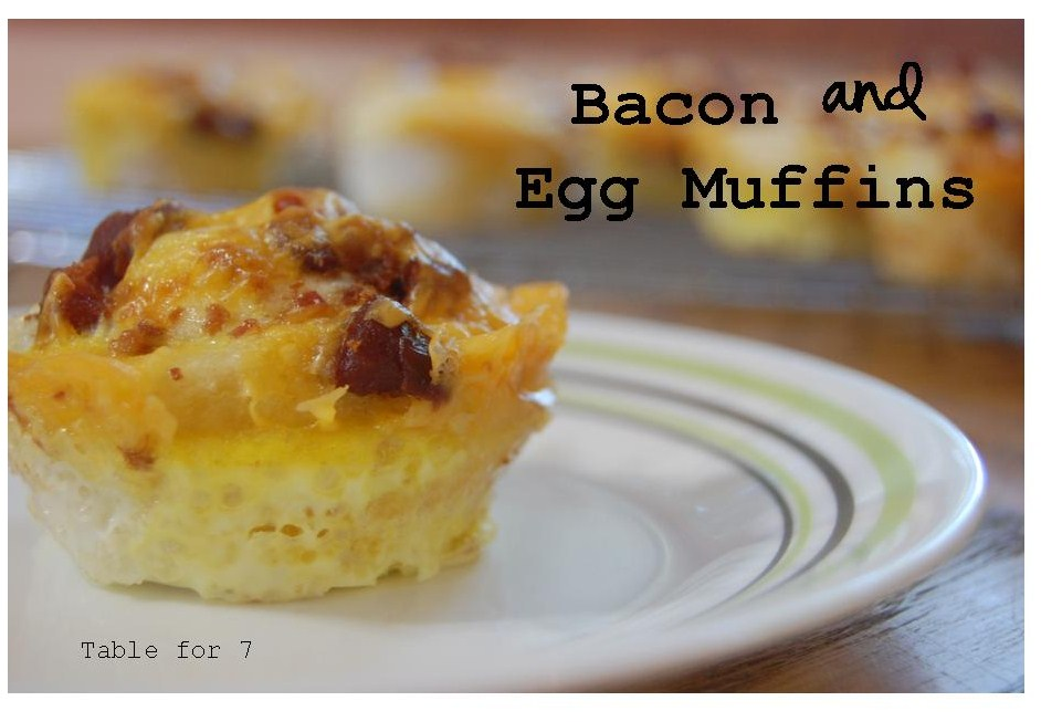 Bacon & Egg Muffins • Table for Seven