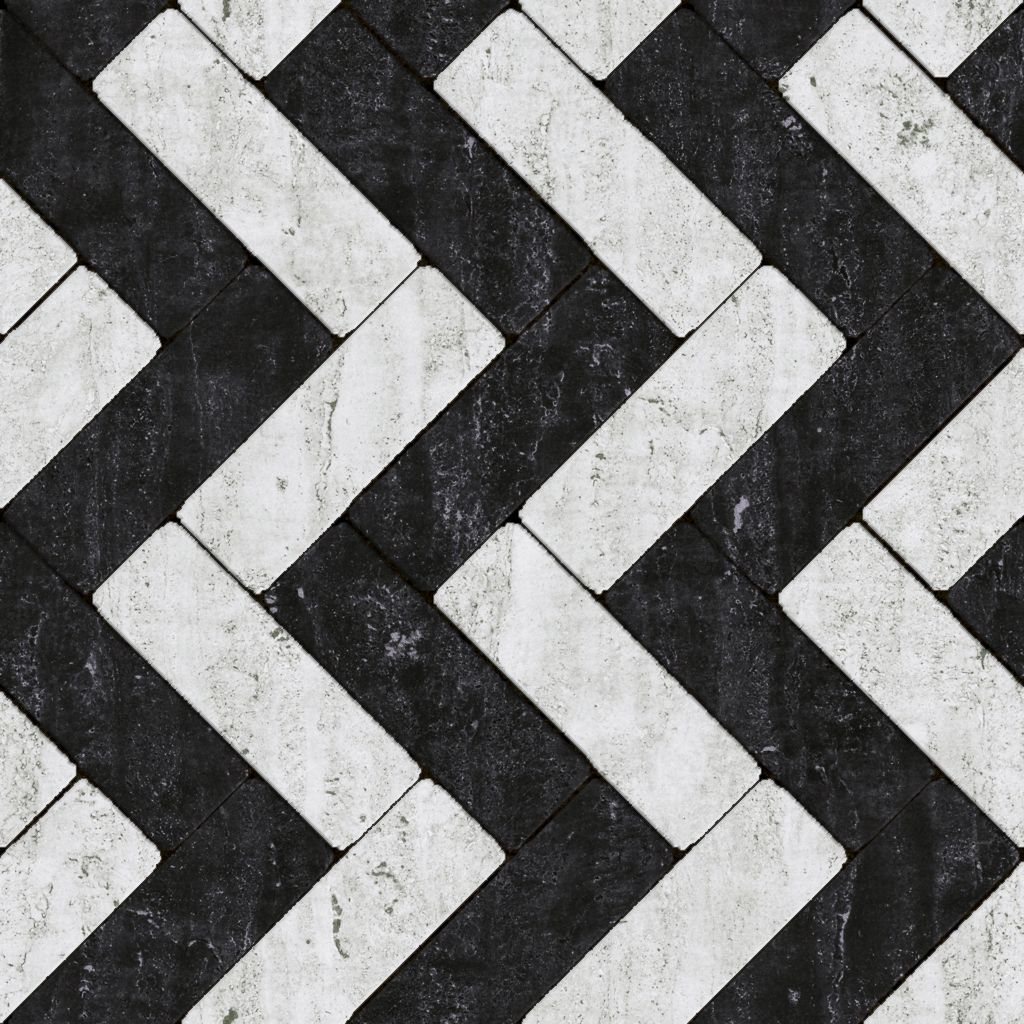 Black White Tile 2017 Grasscloth Wallpaper