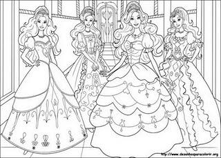 imagens para colorir da barbie tres mosqueteiras - Desenhos do filme Barbie e as três mosqueteiras para colorir