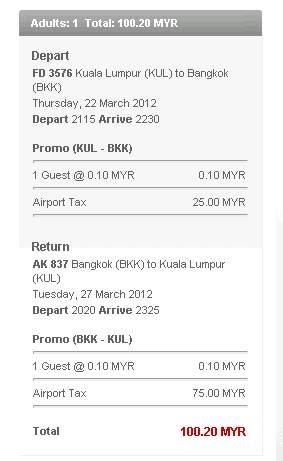 air asia low fare