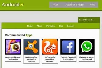 Androider Blogger Teması