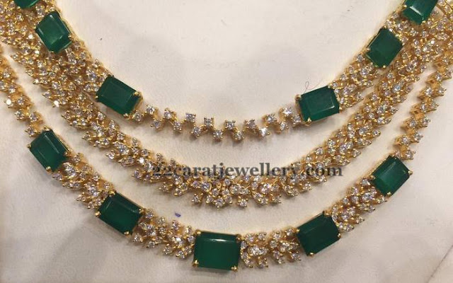51 Grams Emerald Set Chandbalis