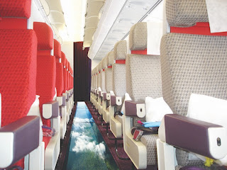 Virgin Atlantic's so-called glass-bottomed plane