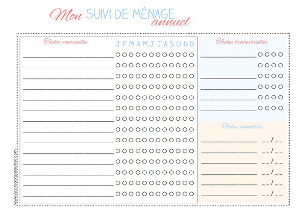 Sweetykisslife organisation et maintenant on le rempli - Organisation menage planning ...
