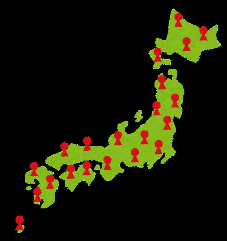 日本の人口を現すイメージの ... : 日本地図 素材 フリー : 日本