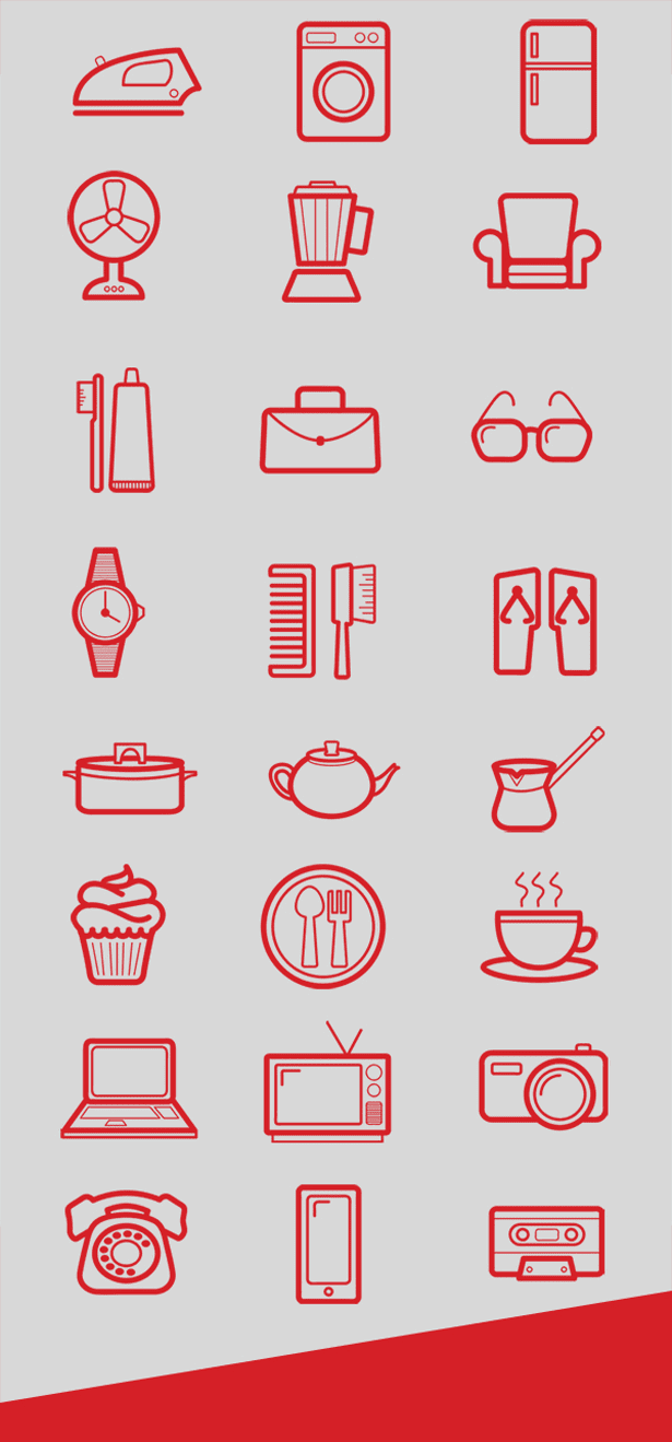 24 Pictograms icon Set