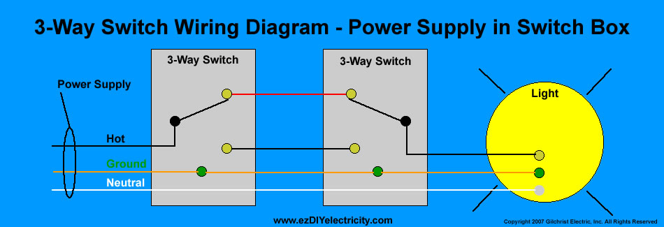 Simple Wiring Diagram For 3 Way Switch : Way light switch wiring question rc monster forums
