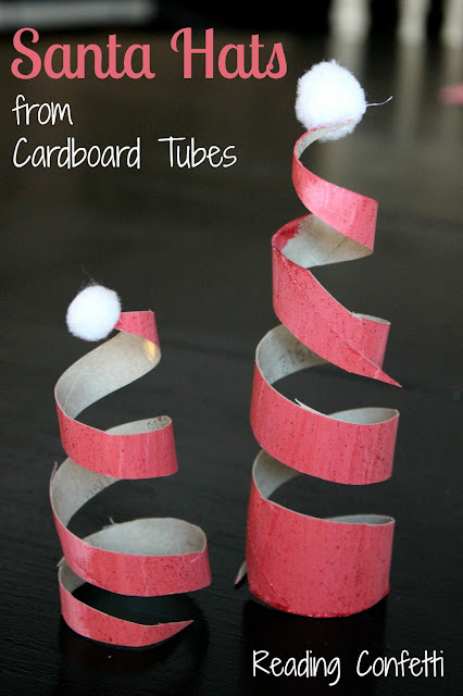 TP Roll Santa Hats from Reading Confetti