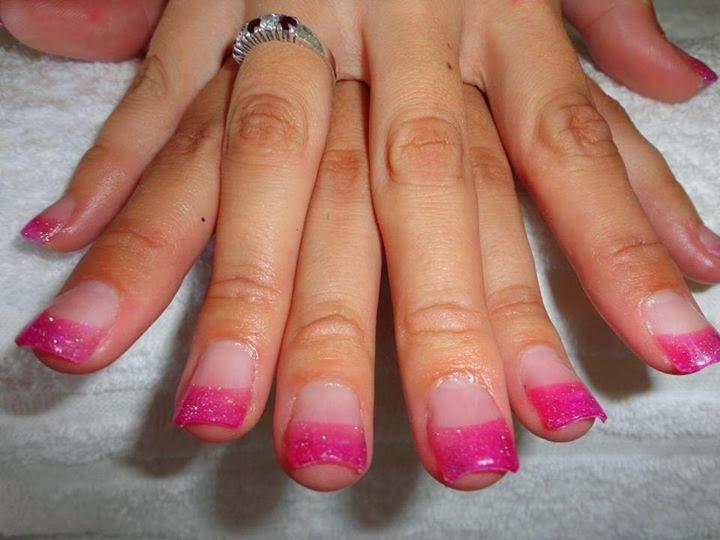 Hot Pink Glitter Nail Polish Hot Pink Acrylic Glitter